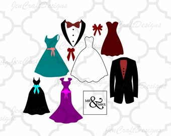 Bride and Groom svg Wedding Party, Bridesmaid SVG, DXF, eps, png Files Cutting Machines Cameo, Cricut Bride svg, Bridesmaid svg, Printable