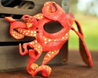 Leather Octopus Mask: Asymmetrical