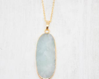 Chain Gilded mint Gemstone natural stone