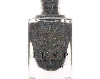 La Catedral - Neutral Charcoal Grey Holographic Sheer Jelly Nail Polish