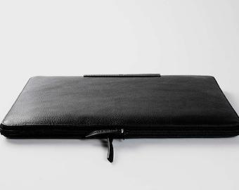 "New 13"" Pro MacBook Pro zip folio leather sleeve padded wool felt lining MacBook 13"" Pro Retina leather sleeve 13"" Air case laptop cover"