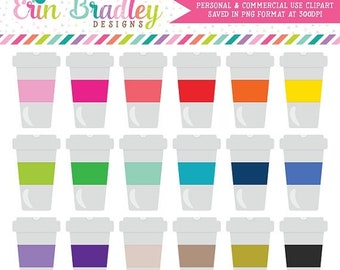 80% OFF SALE Coffee Clip Art Graphics Personal & Commercial Use Coffee Cup Clipart Digital Files