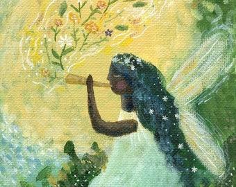 Flower Song original fantasy painting