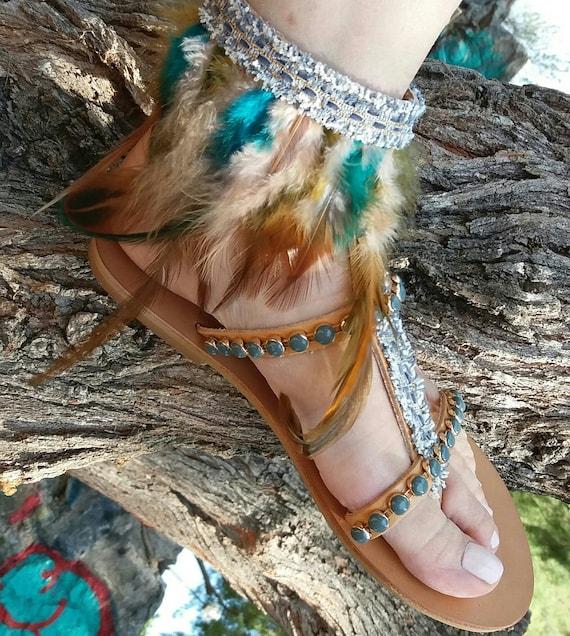 Embellished Indian Sandals Greek Leather Sandals Leather sandals Genuine Sandals Hippie Sandals Sandals Gladiator Boho Sandals Handmade YEHxwq7