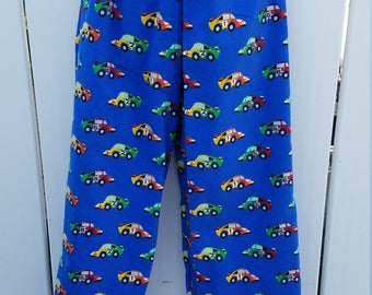 Size 5/6 Blue Racecars Flannel Sleep Lounge Pants