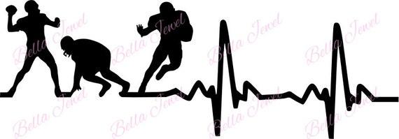 Download Football SVG Football player svg heartbeat svg my heart
