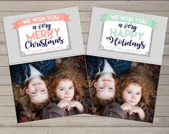 One Photo Christmas Holiday Card