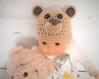 Adorable Animal Baby Hat/ Baby Funny Hat/ Crochet Baby Hats