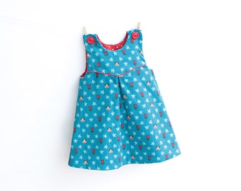 Girl Baby Girl Dress Overall sewing pattern Pdf, MINI TULIPS Baby Girl Pinafore, newborn 3m 6m 9m 18m 1 2 3 4 5 6 years Instant Download
