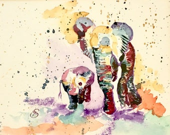 BITITI AND ENATA on Morning Walk - Elephants