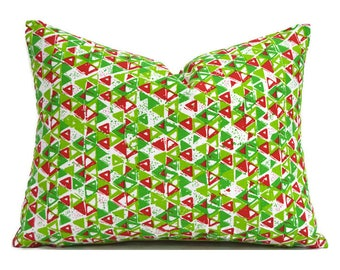 Lumbar Christmas Pillow Cover ANY SIZE Decorative Pillows Green Pillow Premier Prints Acute Chartreuse