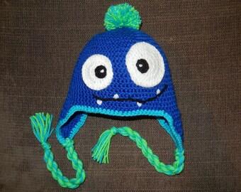 Crochet hat monster