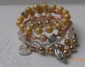 Inspirational Charm Wrap Bracelet - Sister