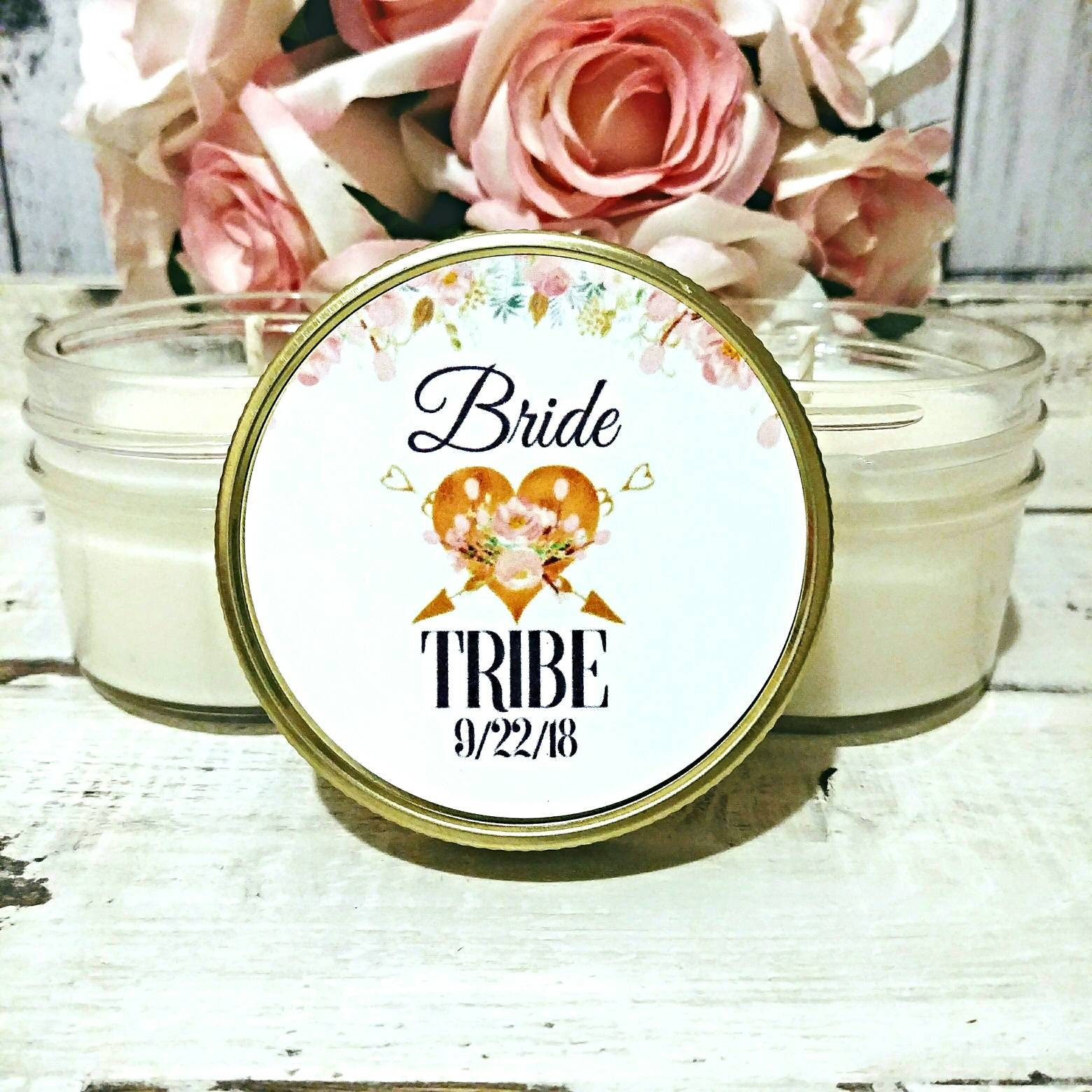 Bridesmaid Set of 7 - Soy Candles - Bride Tribe Candles - Bride ...