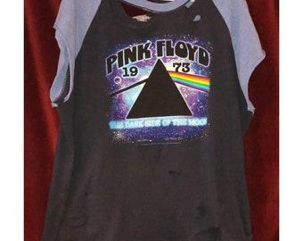 Custom Vintage Distressed Pink Floyd Tshirt