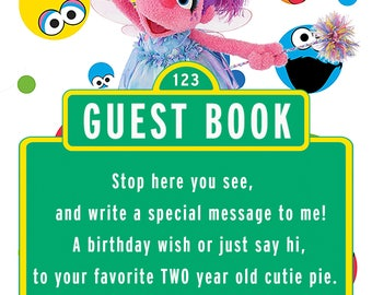 Sesame Street Abby Cadabby Guest Book 2 Year-Old Party Sign