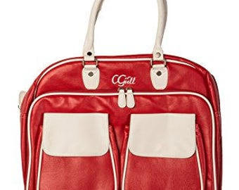 CGull 10-0008 Cricut Cartridge Leather Tote RED/WHT