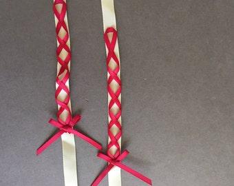 Ribbon Laced Premade Strap