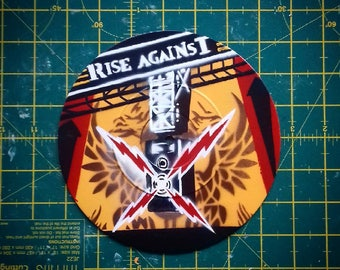 "Rise Against - Siren Song of the Counter Culture - Custom 7"" EP Stencil Art"