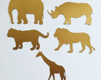 "5"" gold safari die cuts"