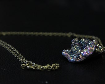 Rainbow Titanium necklace