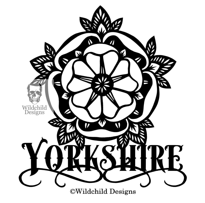 Yorkshire Rose Papier Schneiden Vorlage für persönliche oder