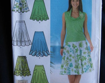 Simplicity Misses A Line Skirt Sewing Pattern 4546  UC Uncut FF 4 6 8 10