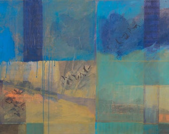 Then I Find Myself ~ Original Contemporary Abstract Landscape Painting