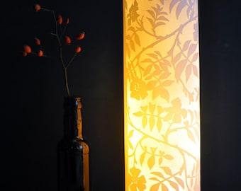 Wild Roses Porcelain Lamp