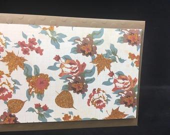 Autumn Thanksgiving Card Blank Note Card