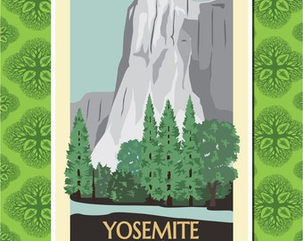 El Capitan Yosemite Travel Poster Wall Decor (7 print sizes available)