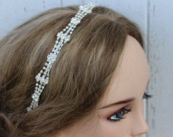 Bridal Rhinestone Headband/ Bridal Tiara