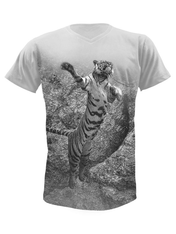 Leaping Tiger T-Shirt-3 Nf0SJ
