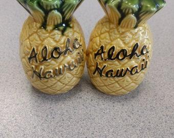 Vintage Aloha pineapple S&P shakers, free ship