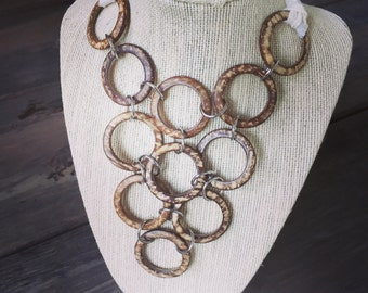 coconut circles statement necklace