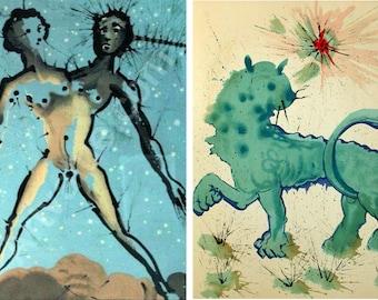 Set of x13 Salvador Dali - Zodiac