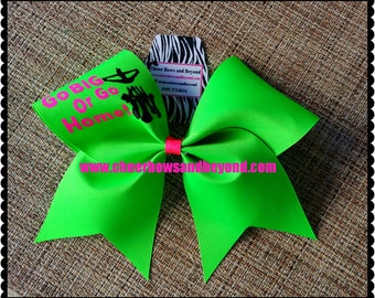 Cheer Bow-Go Big Or Go Home Bow