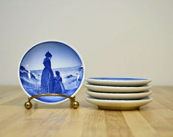 Vintage Danish Ceramic Plates Blue and White Royal Copenhagen Denmark Complete your Collection Bing Grondahl B and G
