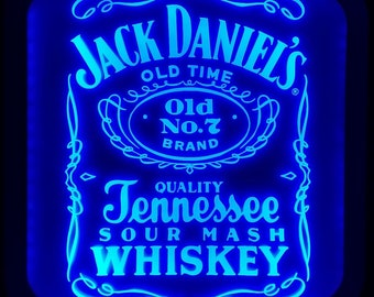 Jack Daniel's Acrylic LED RGB  Sign Wall Sign Neon Like Sign Color Changing Remote Control 2 sizes Made In USA Free Shipping
