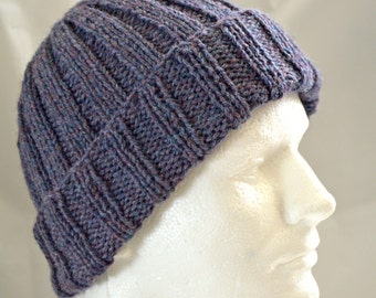 Watch Cap, Warm Winter Hat, Hand Knit Hat, Wool Hat, Beanie, Unisex Cap, Gender Neutral Toque