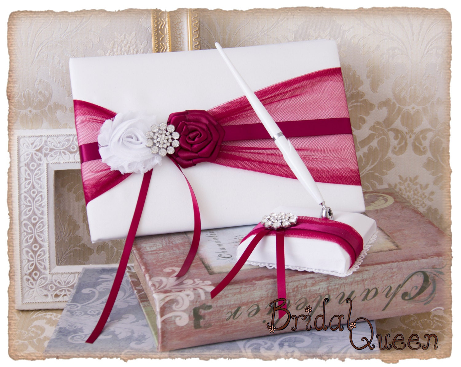 Wedding Guest Book Burgundy Wedding Guest Book Burgundy