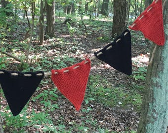 Halloween Bunting (Orange and Black)