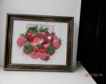 Picture beaded Strawberry