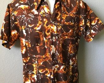 1970s EK California Polynesian men's shirt