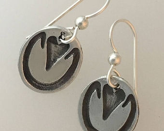 Horse hoof print earrings