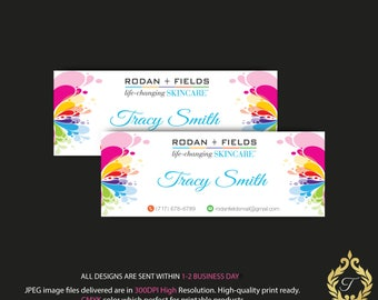 Rodan and Fields Facebook Cover, Personalized Rodan and Fields, RF Skin Care Card, RF Marketing - Facebook Timeline, RF Banner RF01