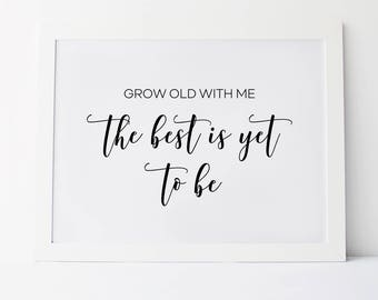 Wedding sayings etsy grow old with me the best is yet to be wedding day signs wedding ceremony sign wedding quote sign wedding sayings wedding quotes junglespirit Gallery