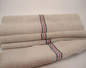 Antique Handloomed UPHOLSTERY Antique Hemp Linen Ecofriendly for Stairrunner 6,5 Yard