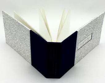 Navy and Silver Mini Photo Album for 4x6 Photos