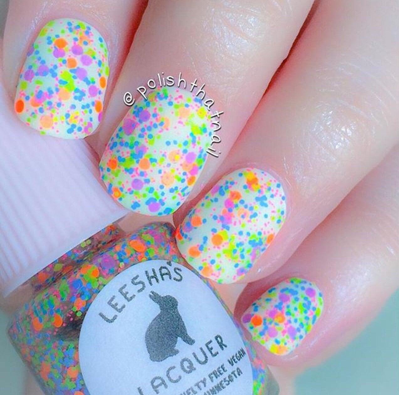 Ions of Neon Full Size or Mini Neon Rainbow Glitter Nail
